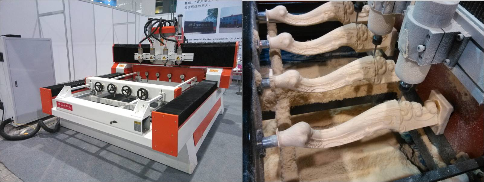 Professional cnc milling machine 4 axis with multi head