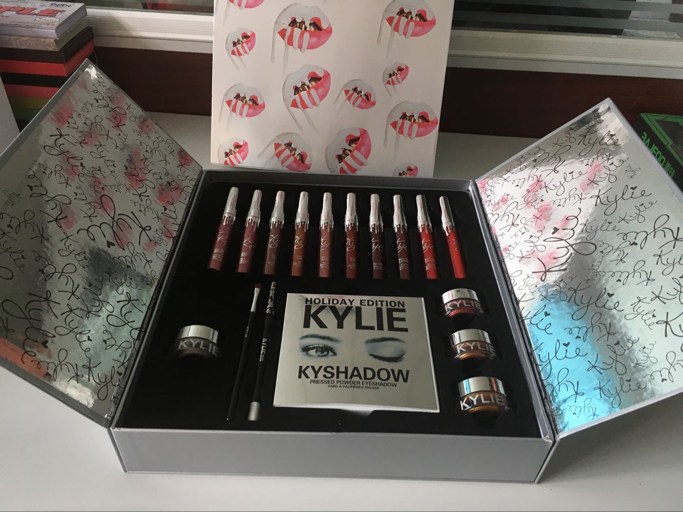 New Arrival Christmas Hot Sale Kylie Holiday Big Box 10 Colors Lipsticks Set