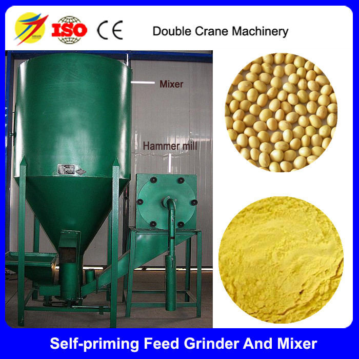 Chicken feed hammer mill and mixer machinery for powder feed