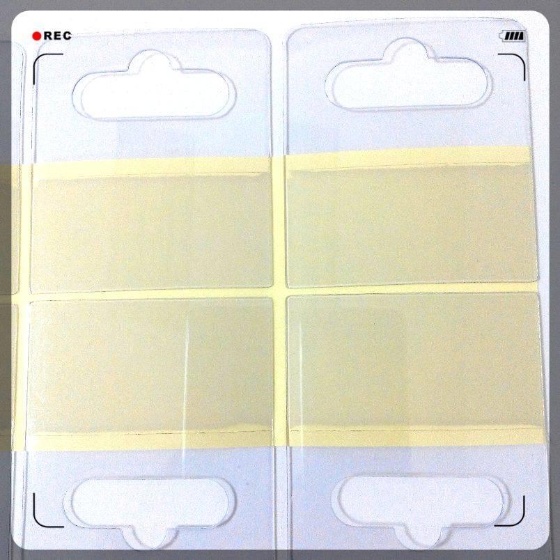 self-adhesie hang tabs, Euro hooks, PVC adhesive box sticker