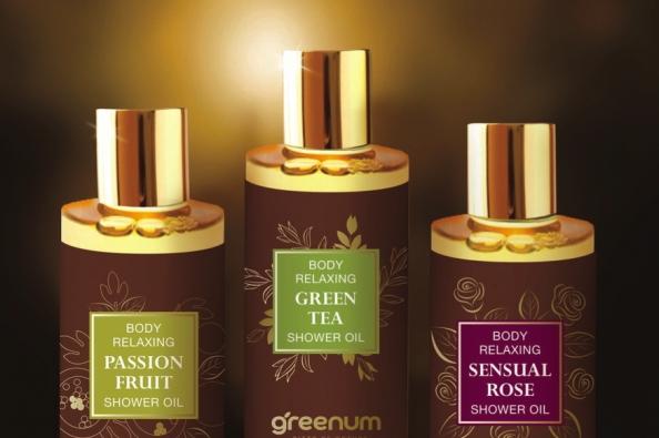 Shower Oil (Oily Shower Gel) Chia Seed Oil and Castor Oil 200ml 100% Handmade Cosmetics
