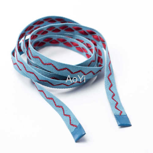1cm Embroidered jacquard drawcord for garment