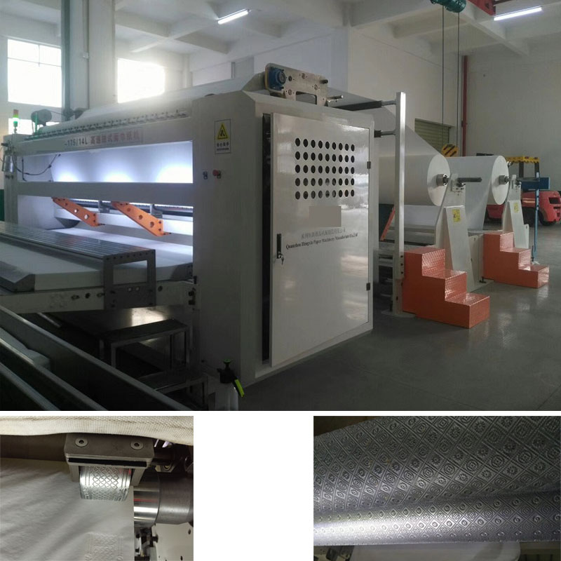 4 lanes automatic facial tissue paper cutting machine