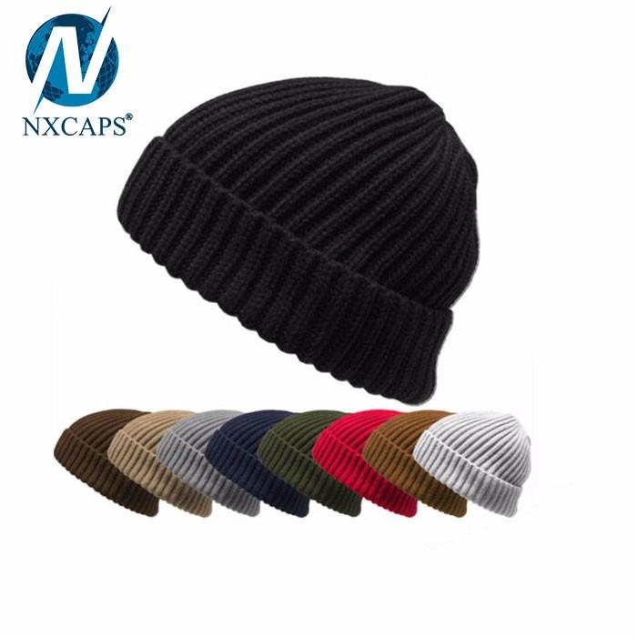 Crochet fisherman beanie custom winter hat unisex free style popular knitted beanies