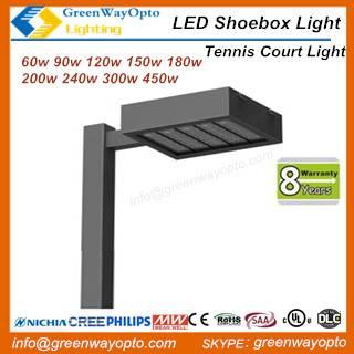 UL 200W LED Tennis Court Light Nichia Cree Up To 120 Lm/W