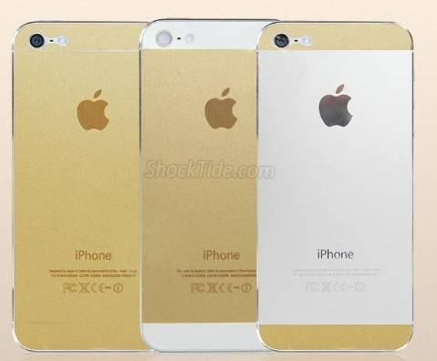 iPhone 5 Champagne Gold Skin Sticker with protector wrap cover NOT CASE