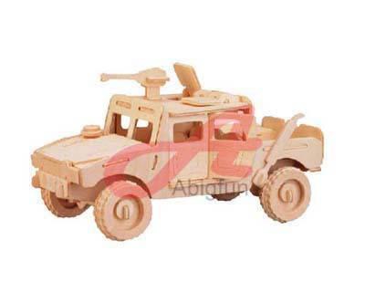 Fierce Horse wooden model craft