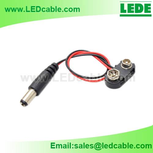 9V Battery Clip with DC plug, DC power cord