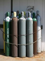 Used oxygen cylinders