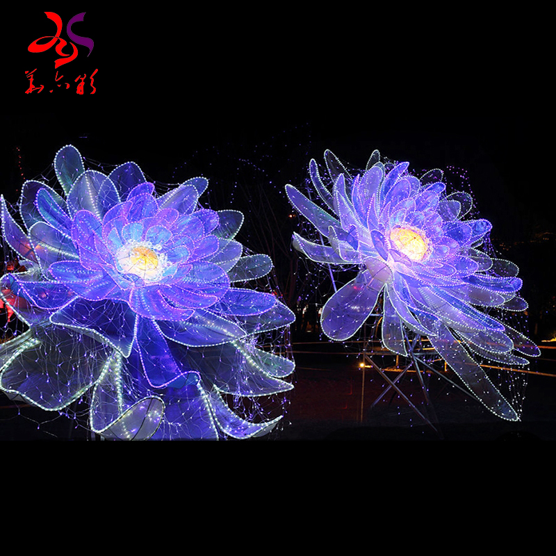 Christmas decorate flowers 3d LED motif lights for outdoor