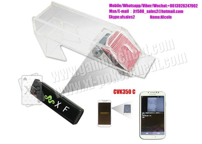 Transparent Poker Scanner Camera Scan Marked Cards For Casino Cheating Devices shoes