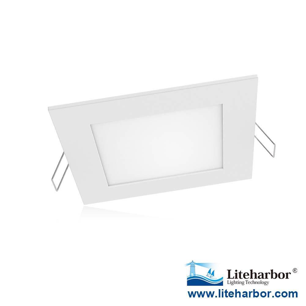 "Liteharbor Lighting 4"" Super-thin Square LED Recessed Panel Light"