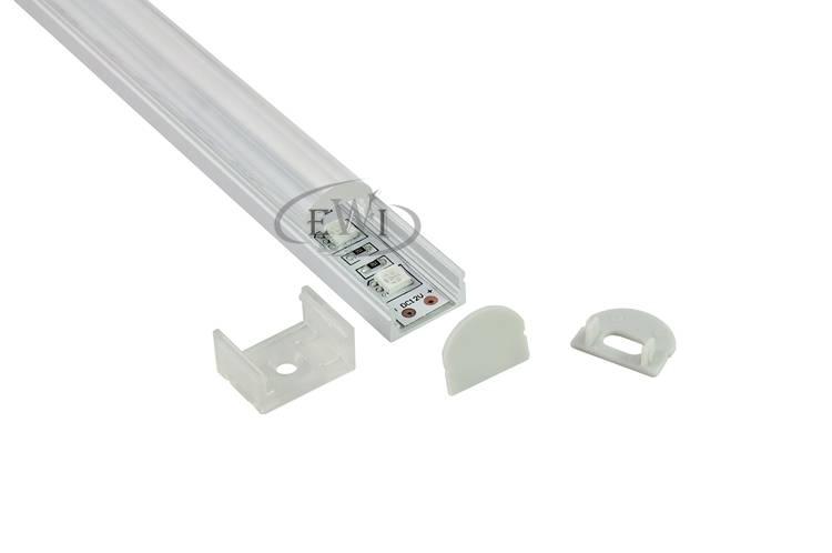 60 degree beam angle led aluminium profile w/clear lens