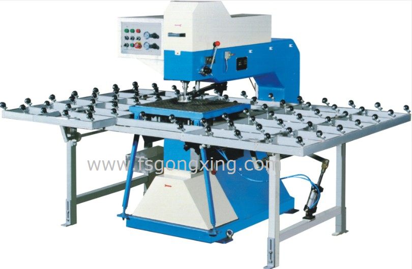 Model BZ0213 Glass Drilling Machine- pneumatic clamp