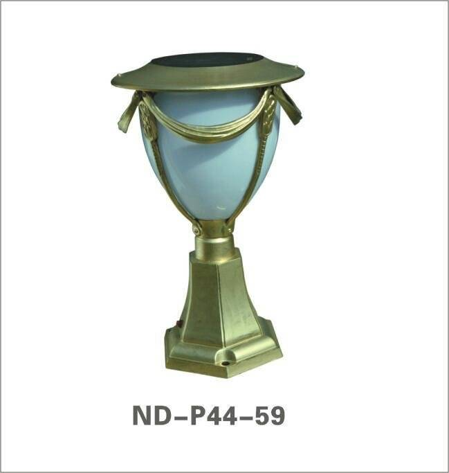 high quality solar LED pillar lamp