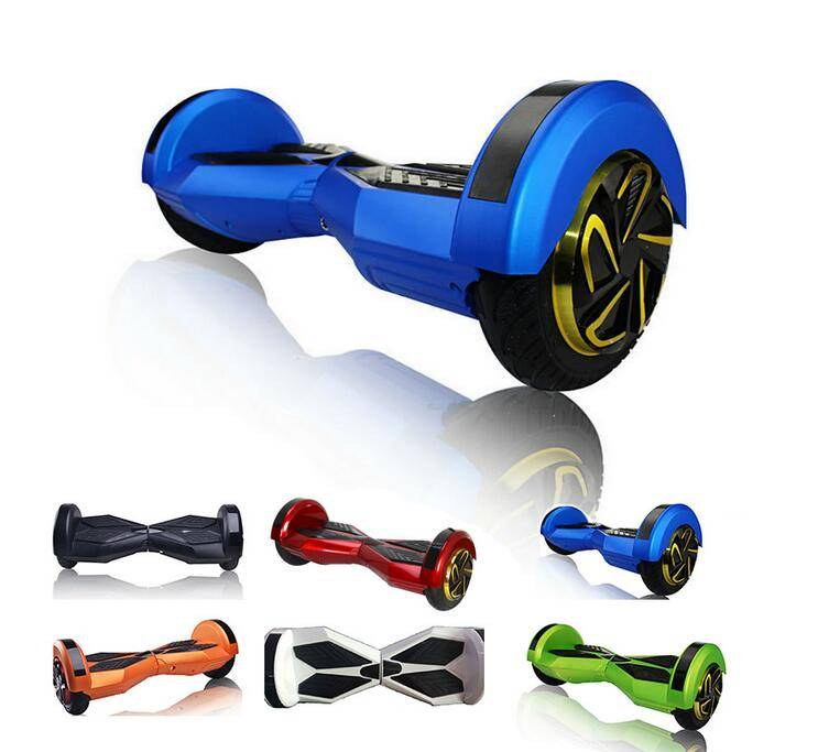 8inch two wheels self balancing scooter with shinning LED lights and bluetooth