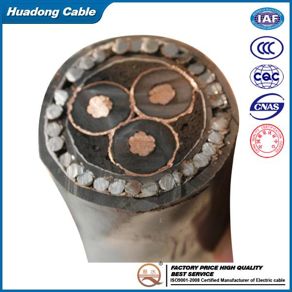 Voltages up to 35kv PVC/XLPE Power Cable/DC power cable