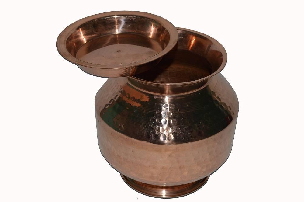 Raghav India Copper Matka with Lid