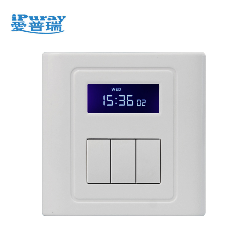 230V Timer Wall Switch programmable working with 3 Loads
