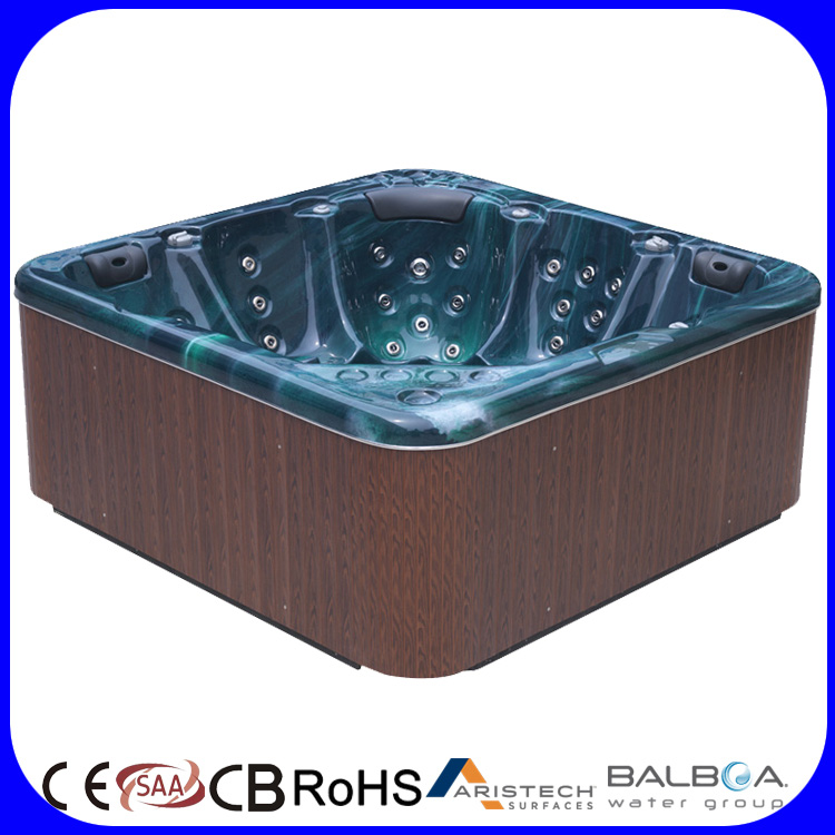 Deluxe soaking massage whirlpool
