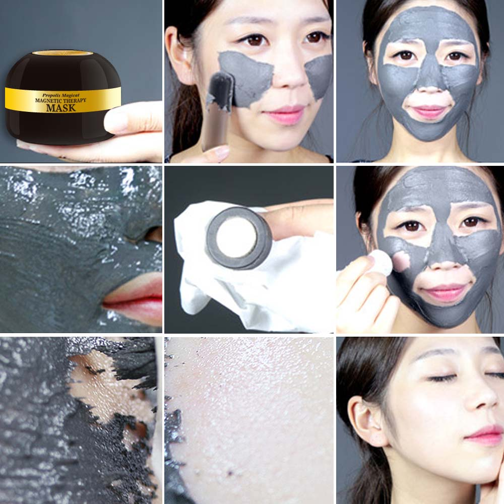 Newest Whitening Moisturizing Propolis Magnetic Mud Mask for Skin Care