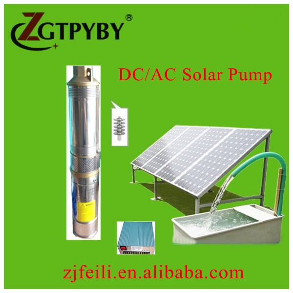 DC/AC high lift solar water pump