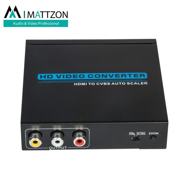 Mattzon 4K MINI HDMI TO AV Converter support zoom, up-scaler and down-scaler,with audio 3.5mm stereo