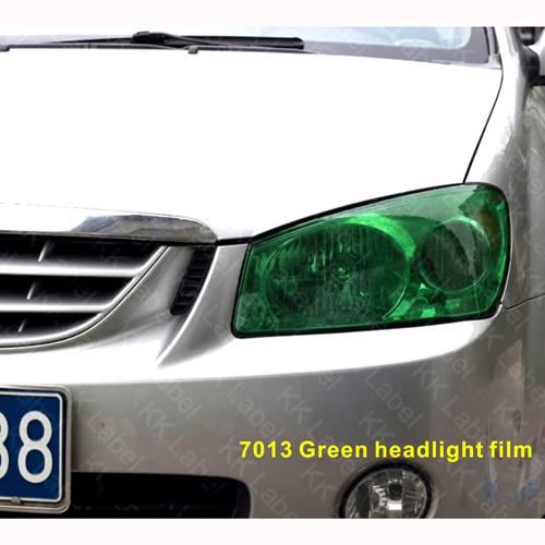 7013 Green headlight film