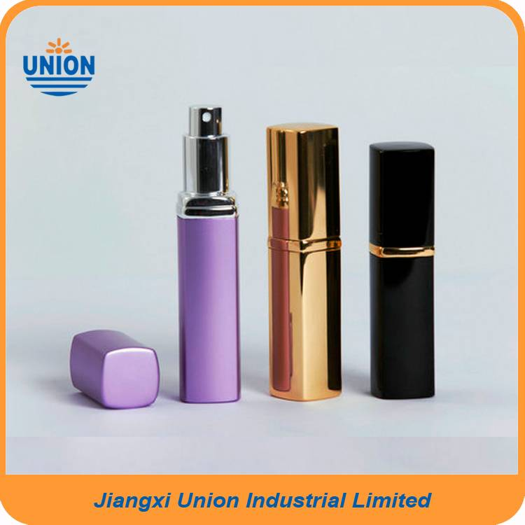 35ml glossy shining gold color square perfume bottles