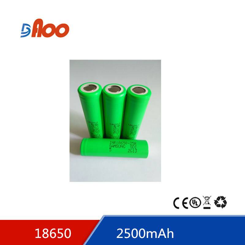 ithium ion battery 18650-2500 3.7v 2500mAH 18650 battery