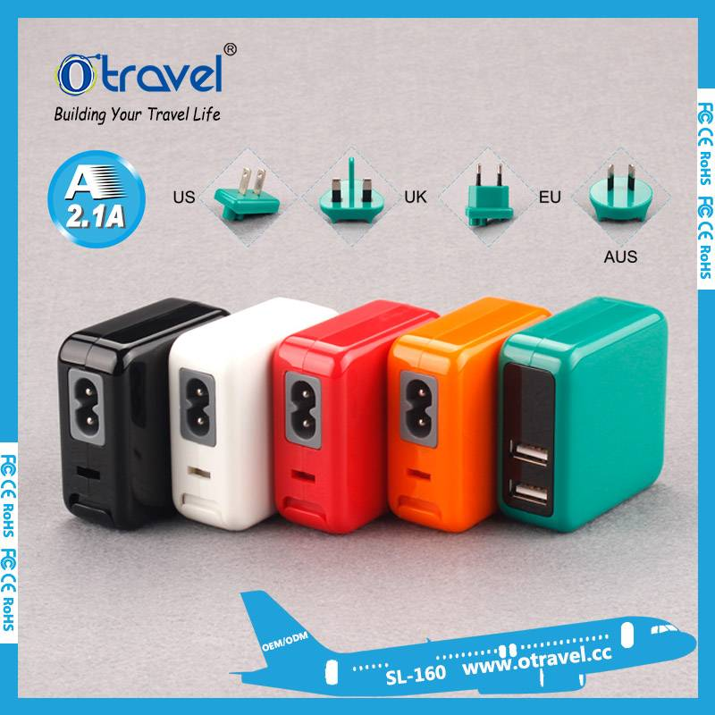 Otravel USB output 5V 2.1A travel plug adapter Mobile Phone Charger