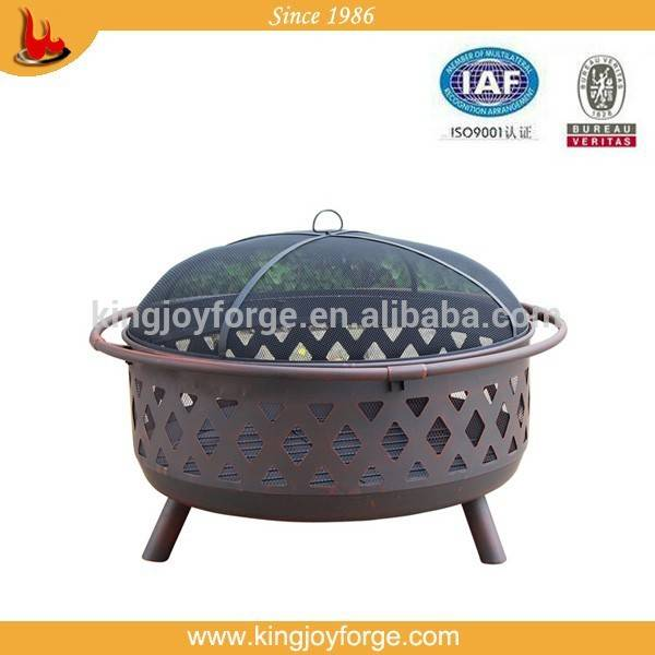 36'' large steel fire pit with 32'' fire bowl