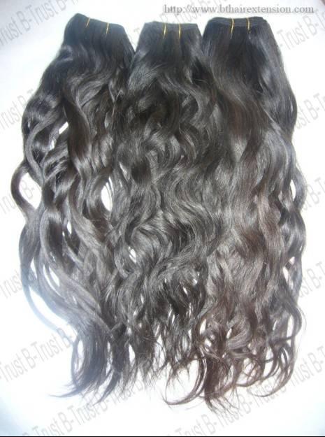 Natural raw virgin peruvian hair weft