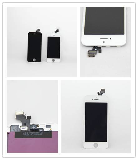 For Apple iPhone 5 LCD Screen and Digitizer Assembly with Frame Replacement - Black white
