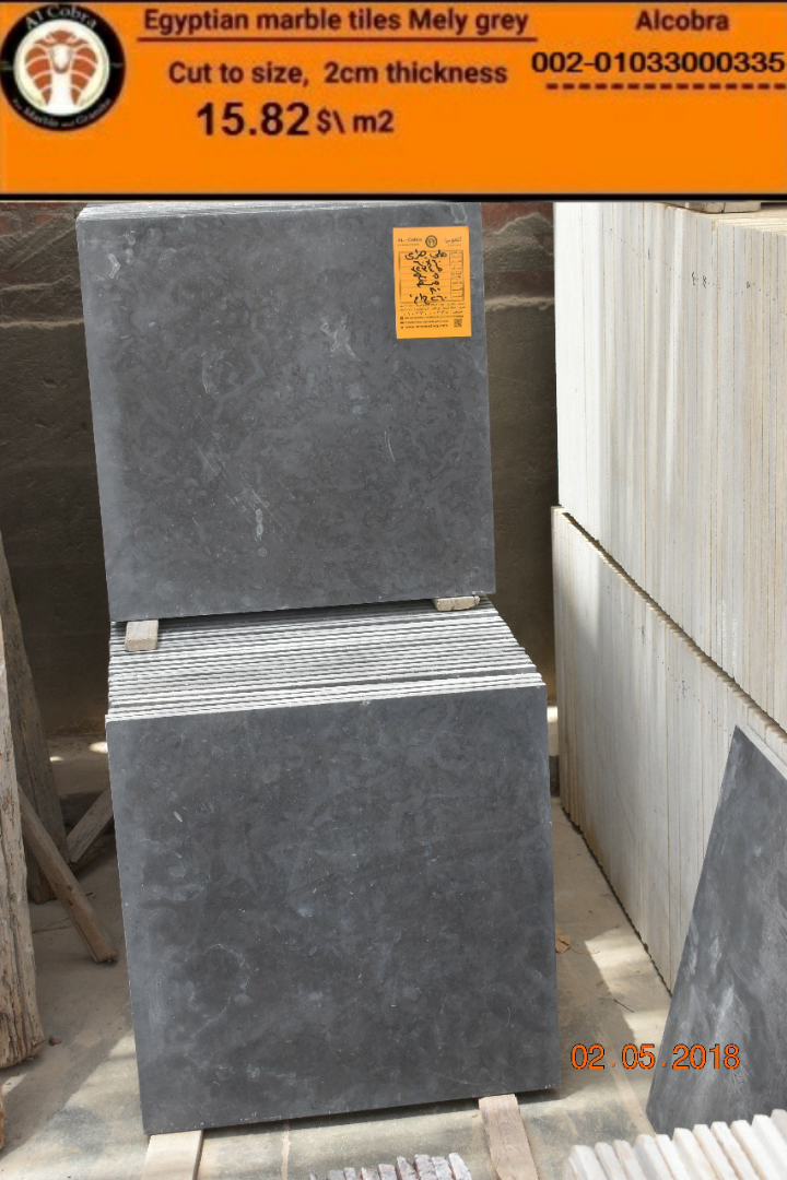 Marble tiles Mely Grey
