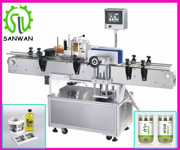 Automatic small round bottle labeling machine non-drying labeling equipment