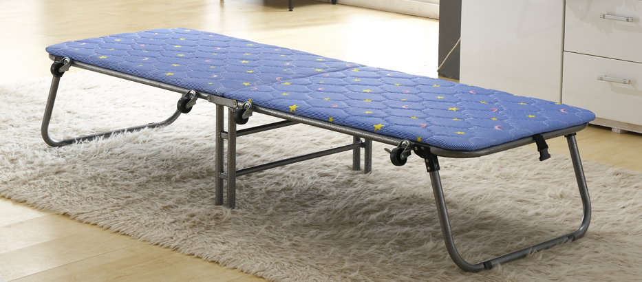 folding cot bed with wheels