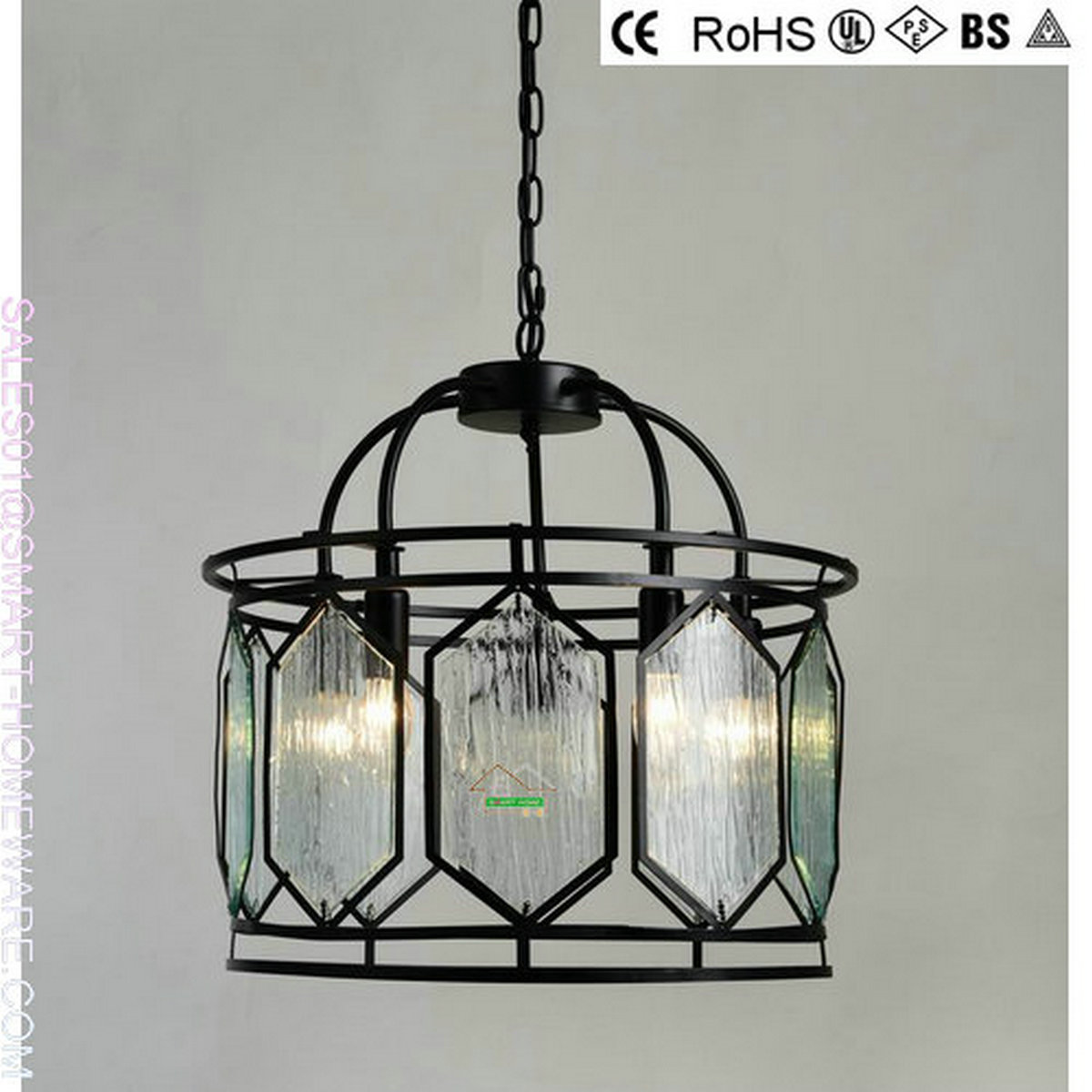 SH0166 American traditional style metal and glass chandeliers for house decoration