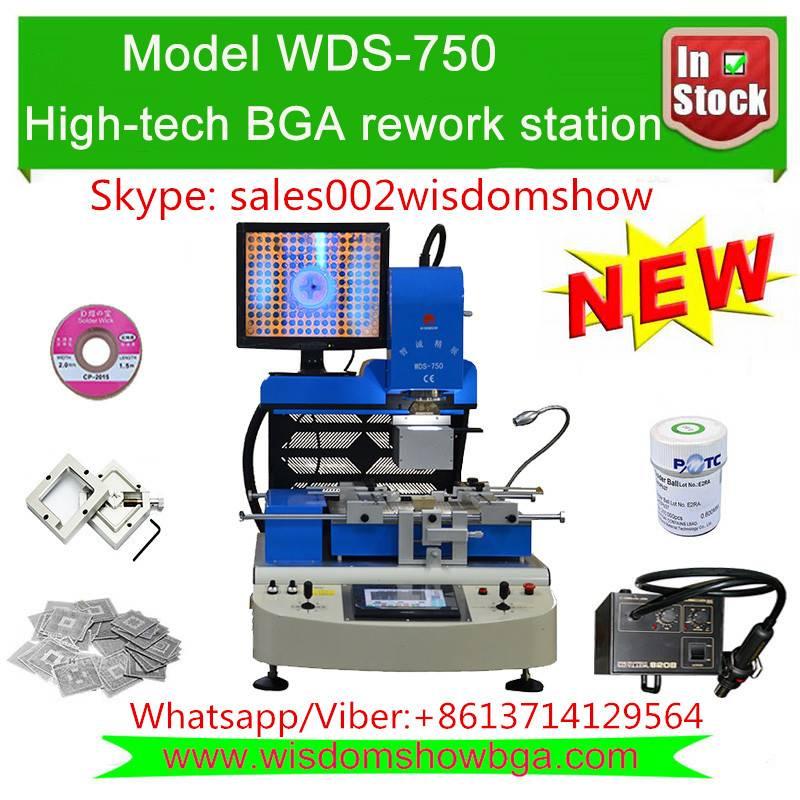 BGA rework station price WDS-750 motherboard chipset repair machine with HD camera