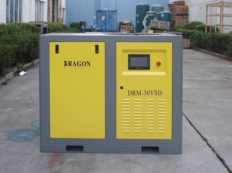 stationary CE approved screw air compressor by Dragon
