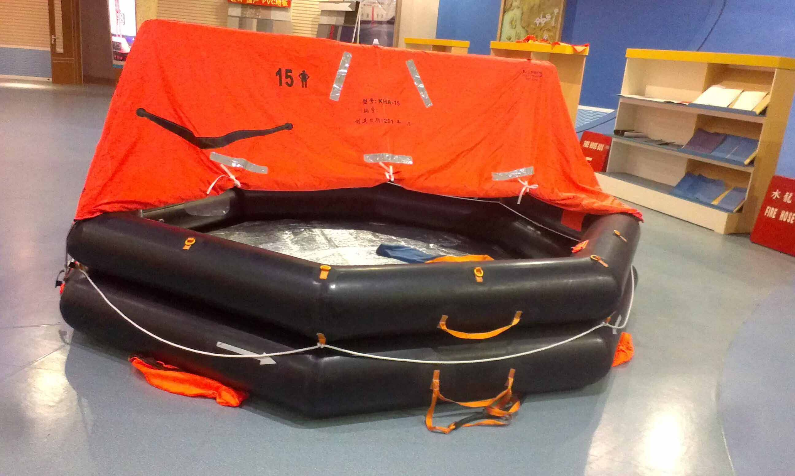 EC approved marine safety inflatable life raft with flexible package