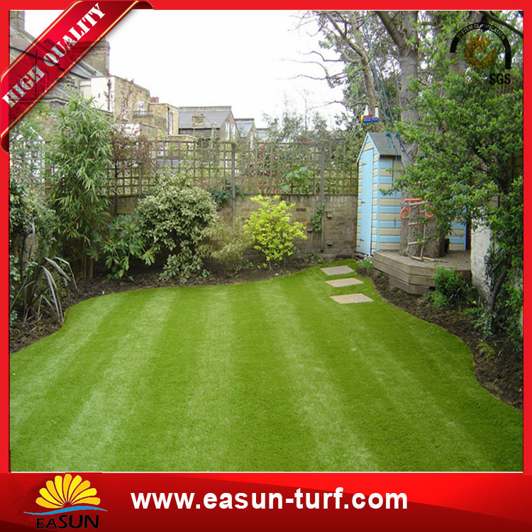 Synthetic lawn and C shape artificial grass for garden and residental-Du