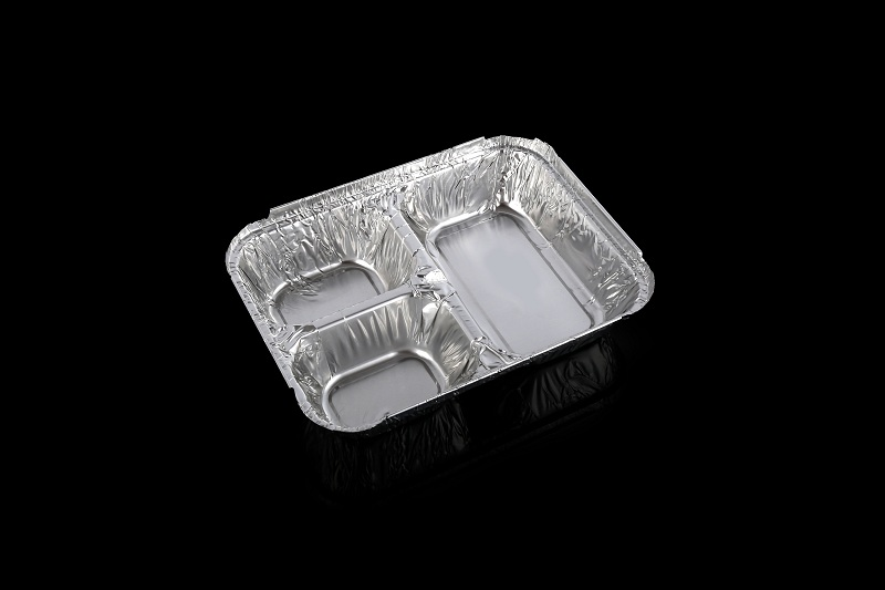 Aluminum Foil Container Three compartment T-Divider