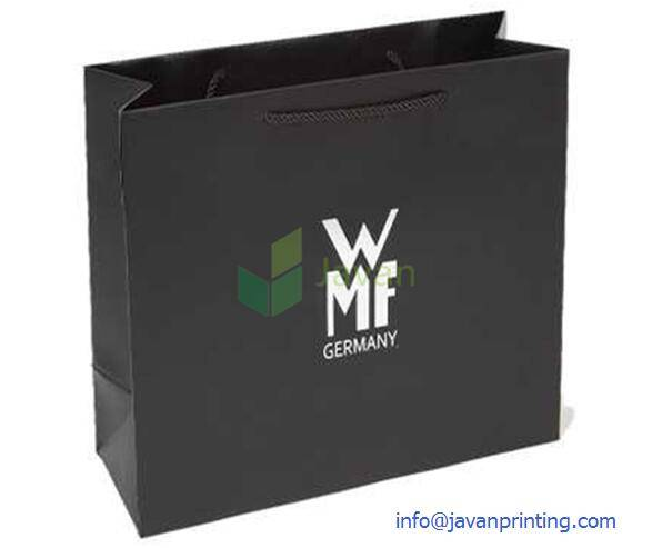 Black Luxury Brand Paper Shopping Bag