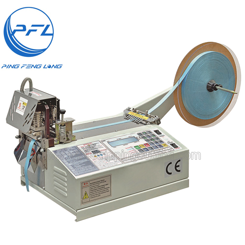 PFL-990 Automatic Cutting Machine with Cold Blade For Fabric Belt Zipper and Nylon Tape