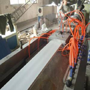 PVC decorative buckle plate production line