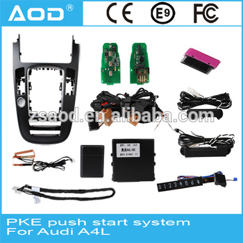 Intelligent Push Button to Engine Start/Off with PKE and BLUETOOTH for AUDI A4