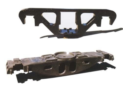 railway casting steel side frame and bolster parts for railway bogie