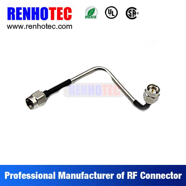 SMA to SMA Plug Electrical RF Wire Connectors Custom Cable Assembly for RG316