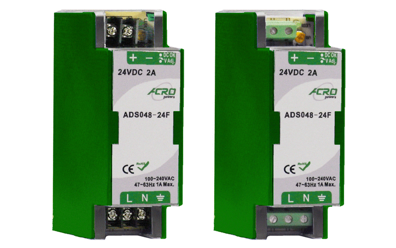 ADS048F Series DIN Rail Power Supply 48W Watts, Single Output Power with DIN Rail